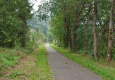 À Radelange, l'ancienne voie du tram Marche-Bastogne-Martelange.