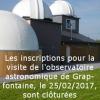 Inscriptions clôturées pour l'observatoire de Grapfontaine