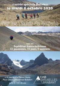 Soirée trek spéciale Bolivie